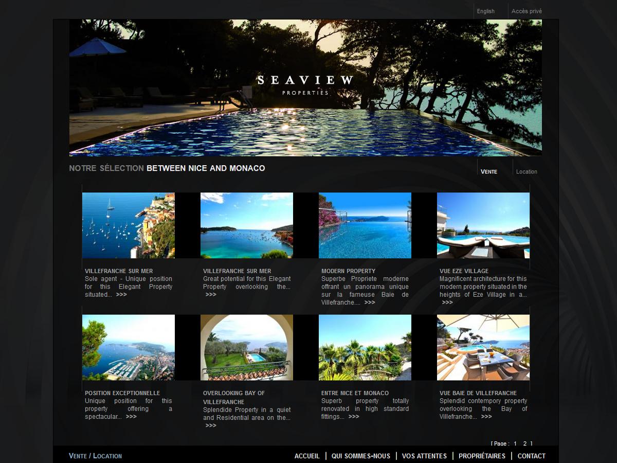 c07a94f627e675 Seaview Properties - Identité de marque et site internet immobilier -  Création du site internet seaview